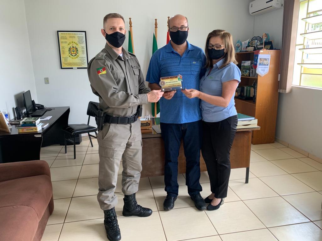 Creral recebe agradecimento do 10º BPM de Sananduva por apoio ao Piseg-RS