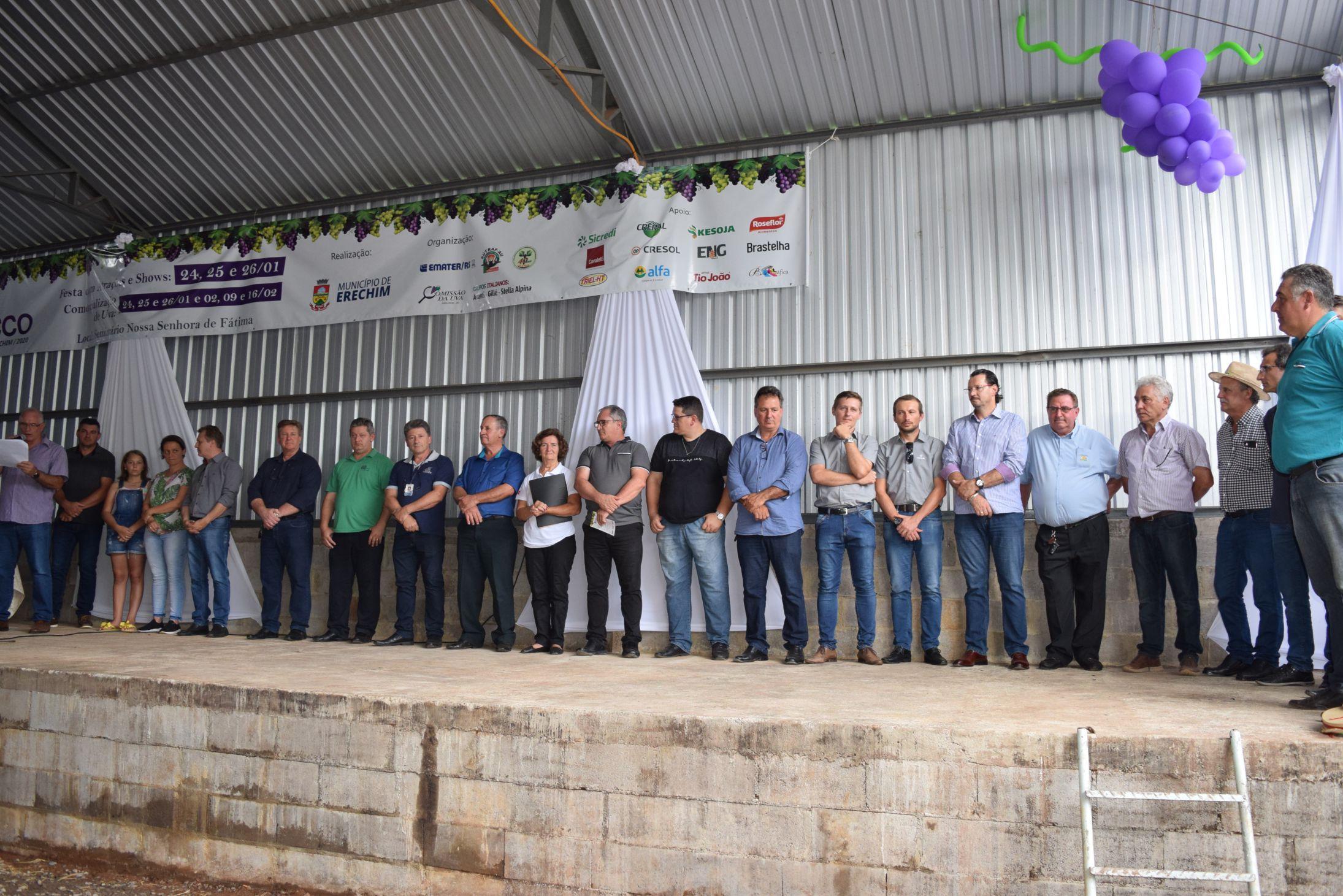 Vice-presidente da Creral participou da abertura da Safra da Uva