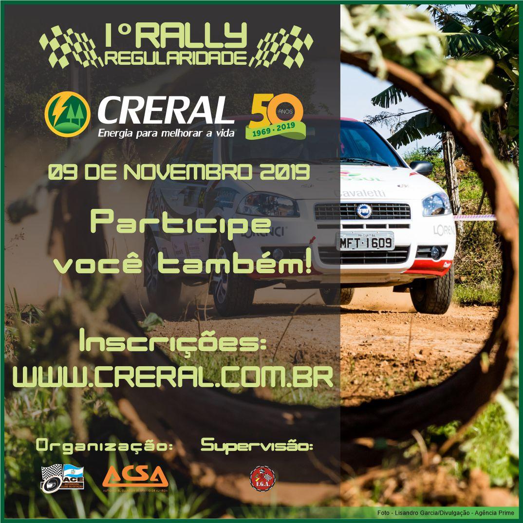 1º Rally Creral 50 anos será realizado em novembro